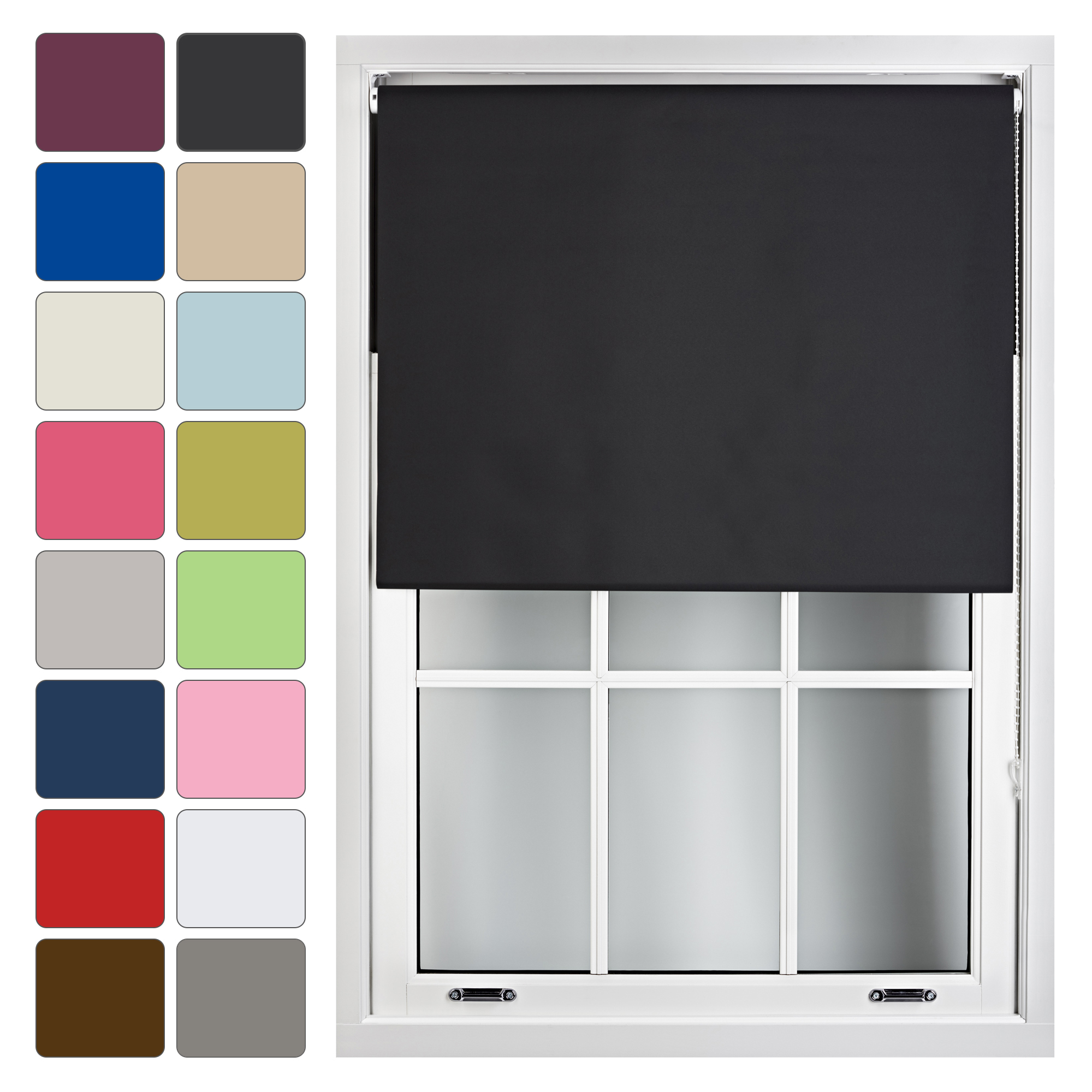 blackout window roller blinds made to measure up to 240cm. Black Bedroom Furniture Sets. Home Design Ideas