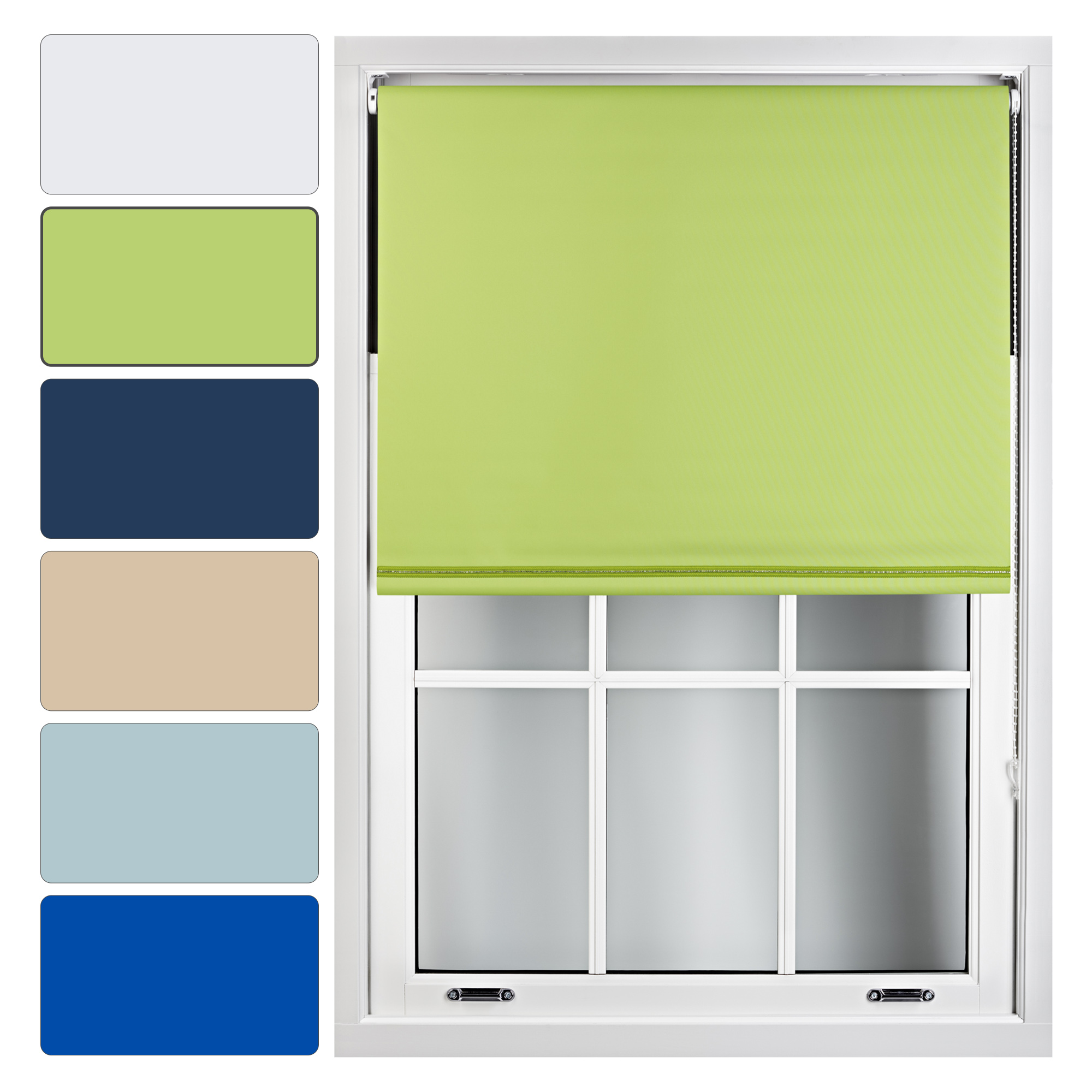 Furnished Blackout Roller Blinds Trimmable With