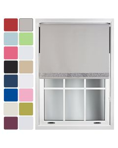 Blackout Roller Blinds With Glitter Trim