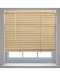Venetian Blinds Wood-Effect PVC - Natural