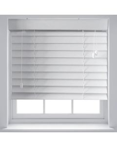 Faux Wood Venetian Blinds - White