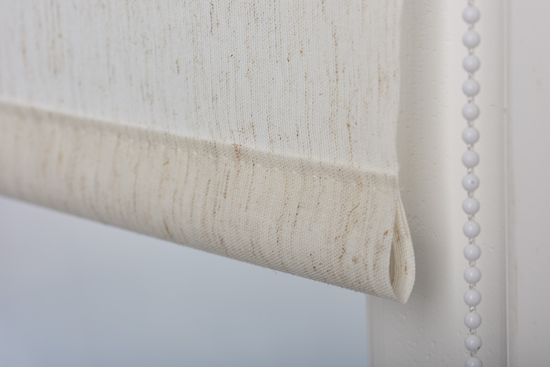 Luxury Cream Beige Roller Blinds Natural Linen Free Cut To