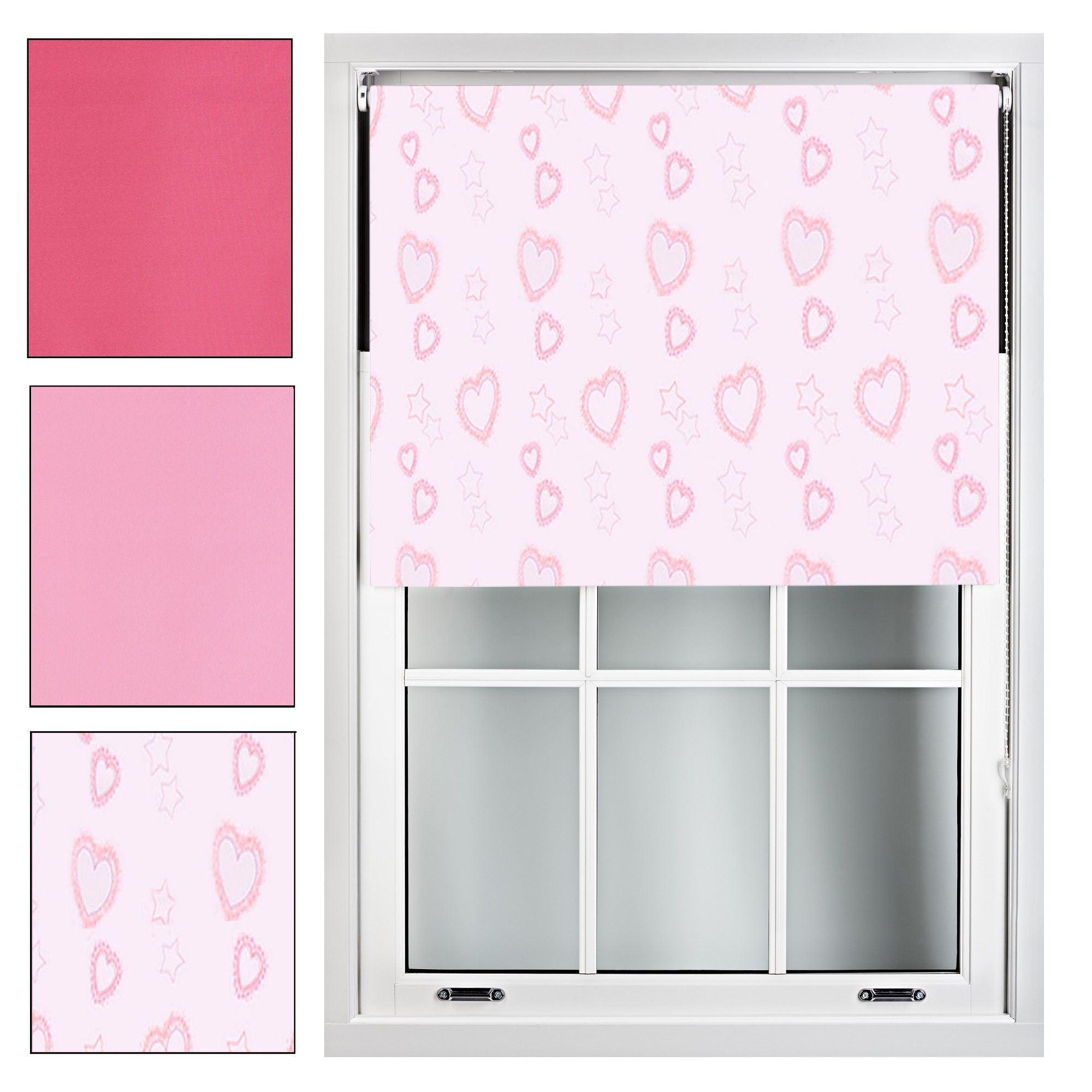 Pink Blackout Roller Blind Made To Measure Up To 240cm X
