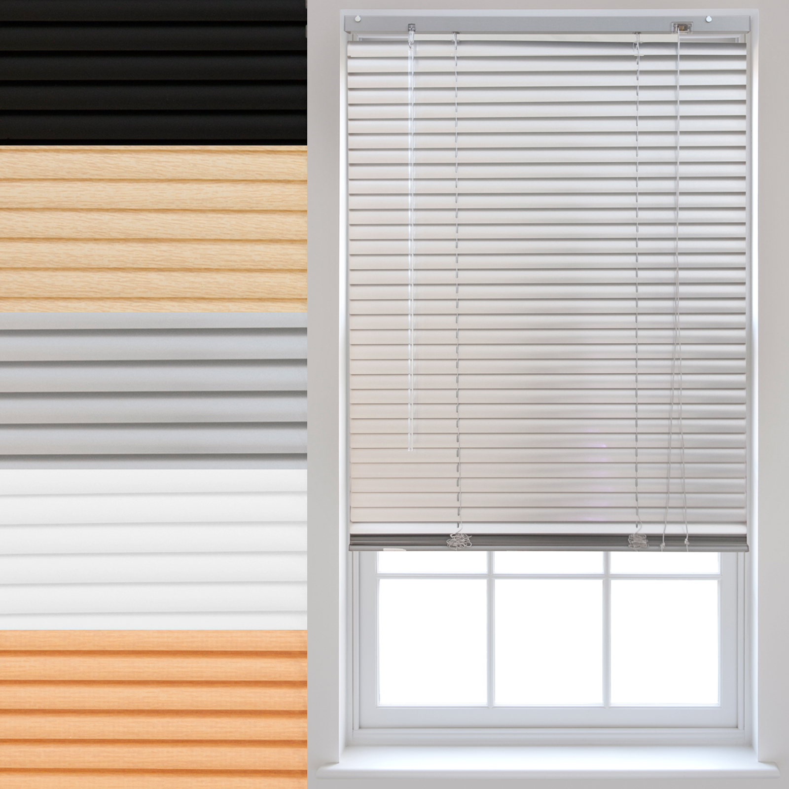 PVC-Venetian-Blinds-Made-To-Measure-Window-Home-Office-Blind-New thumbnail 11
