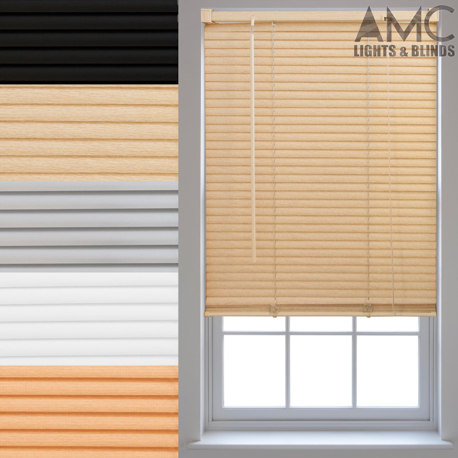 pvc venetian blinds made to measure window home office. Black Bedroom Furniture Sets. Home Design Ideas