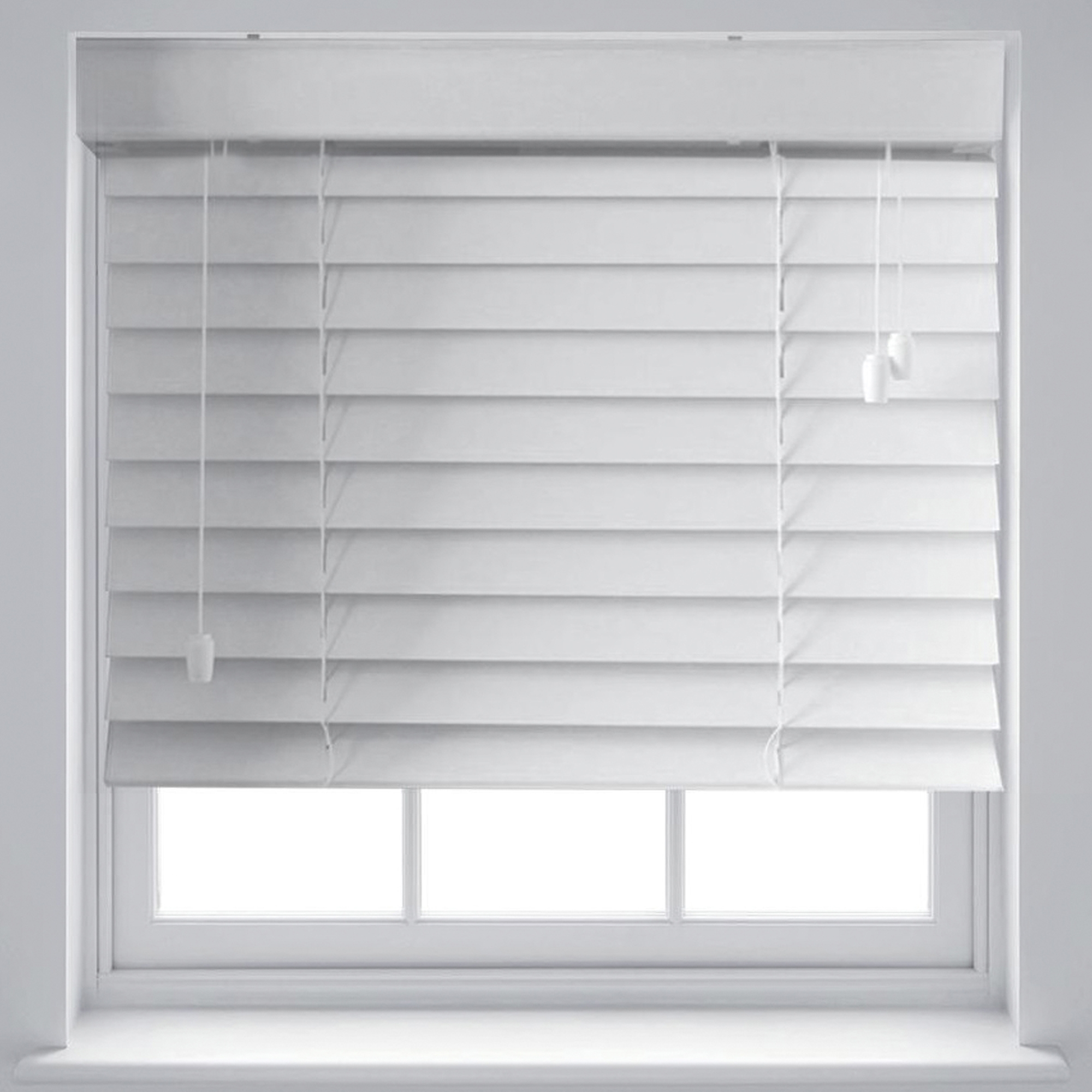 Quality White Wood Effect 50mm Venetian Blinds Trimmable Up To 240cm X 210cm Ebay